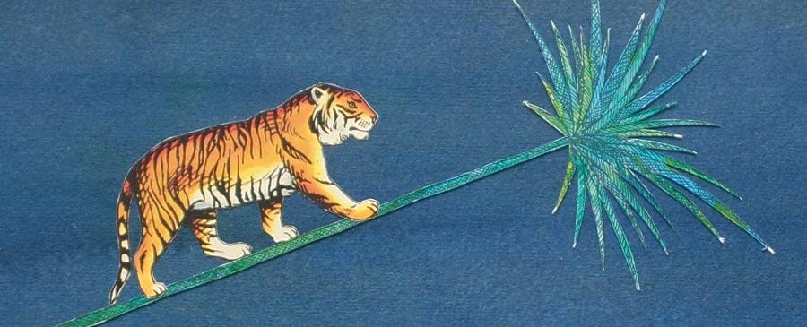 Tiger auf Palme